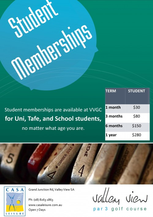 Valley View Student Membership